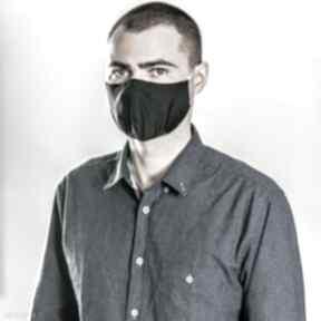 Maseczka męska - czarna maseczki milita nikonorov maska,