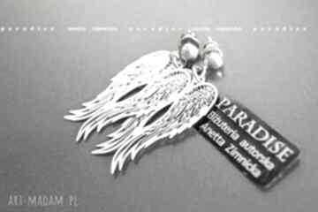 Anetta Zimnickazawieszki skrzydła srebro sztyfty