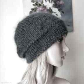 Antracyt klasyczna czapka czapki buenaartis na drutach