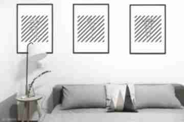 Zestaw 3 printów a3 - the shadow of flower, grafika drukowana