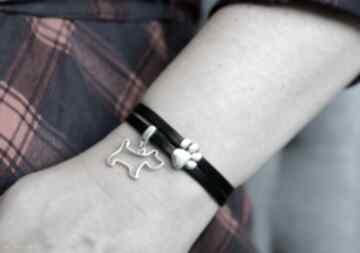 Bransoletka skórzana magnetoos dual dog&paw czarna beezoo bransoletka, skóra,