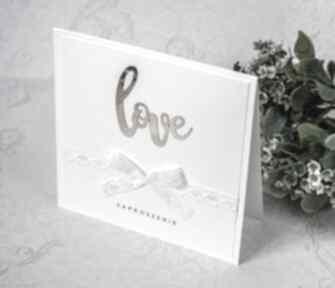 Zaproszenia ślubne love biala konwalia zaproszenie, ślub, love