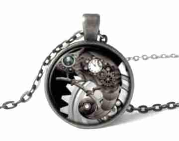 Kameleon medalion łańcuszkiem steampunk naszyjnik prezent