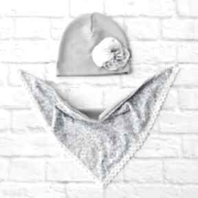 Komplet wiosenny opaską indywidualne zamówienie czapka zgodne