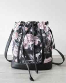 Worek sakiewka - piwonie na ramię torebki niezwykle worek, sack