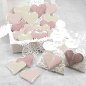 Ślub pracownia ako podziękowania dla gości, serduszka magnesy