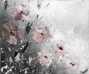 Maki na szarym tle marina czajkowska 4mara, dom, prezent, kwiaty