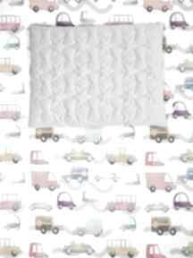 Zestaw velvet cotton autka szary pokoik dziecka lilifranko kocyk