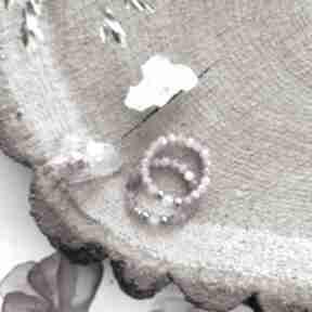 Pierścionek z turmalinem i kwarcem - cherry blossom reveal