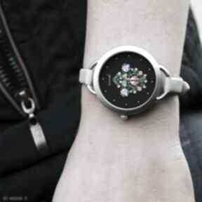 Zegarek - folkowy, czarny zegarki yenoo zegarek, bransoletka