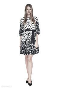 Sukienka olya sukienki pawel kuzik kwiaty, luźna, kieszenie
