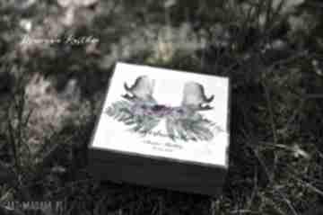 Zaproszenie - błogosławieństwo w drewnianym pudełku zaproszenia