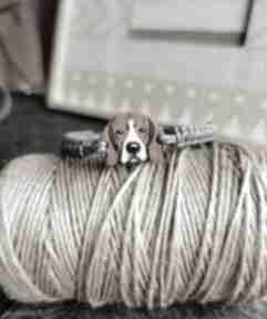 Bransoletka beagle homemade by n beagle, ręcznie malowana