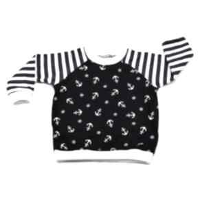 BamBi KOTWICE paski marynarska bluzka, bawełna, rozmiary 68