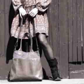 Fiella - duża torba zgaszony fiolet na ramię incat shopper
