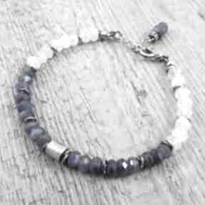 Walec z kyanitem i kamieniem księżycowym irart kyanit