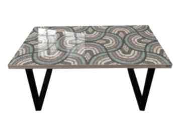 Peacock feathers-nowoczesny stolik loft kawowy do salonu stoły