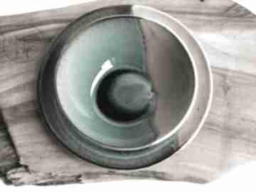 """Zestaw - talerz plus miseczka """"rajska plaża"""" ceramika tyka"""