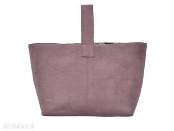 13 -0011 różowa torebka damska do ręki shopper bag na zakupy
