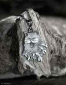 Wisior kot z rybami ze srebra próby 925 wisiorki cztery humory