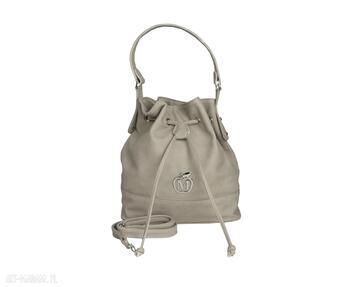 Stylowy worek torebka manzana luźny styl - beżowy torebki