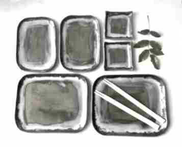 Zestaw sushi dla dwojga ceramika ceramystiq studio naczynia