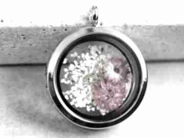 925 suszone kwiaty srebrny naszyjnik kwiat srebro kolor elegancja