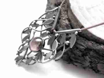 naszyjniki srebrny naszyjnik opleciony granat