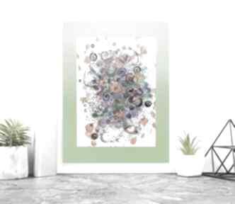 Kolorowa abstrakcja wykonana ręcznie, abstrakcyjna grafika