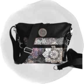 Torebka modułowa black 4w1 - mandala torebki tasha handmade