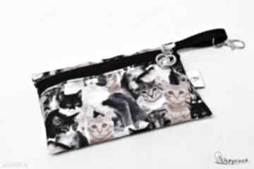 Etui na telefon saszetka klucze wodoodporne kotki uszyciuch etui