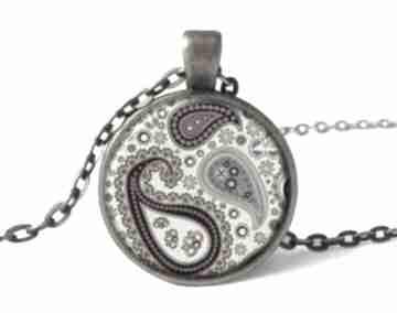 Orientalne nerkowce medalion łańcuszkiem orientalny naszyjnik