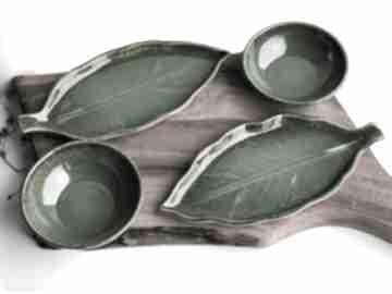 ceramika. ceramika talerz talerzyk-liść talerz-dekoracyjny
