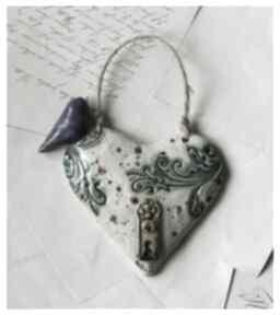Serce nakrapiane wypukłe dekoracje wylegarnia pomyslow ceramika