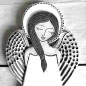 Anioł ceramiczny - pula ceramika smokfa anioł, rękodzieło