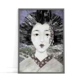 Plakat a4 - geisha plakaty creo plakat, wydruk, geisha, obraz