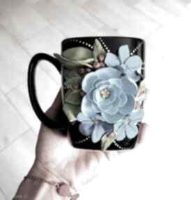 "Kubek ""blue flowers"" ceramika kubekzuzi nataliap niebieskie"