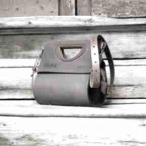 Skórzana damska torebka łezka wykonana ręcznie, duża do biura