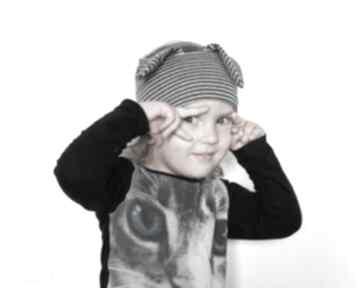 Opaska dziecięca w paski z uszami opaski ruda klara dziecko