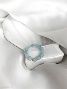 Pierścionek - amazonit in stones amazonit, elastyczny, kamienie