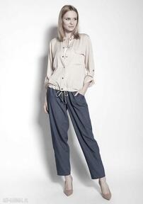 Kurtka zapinana na napy, kr105 beż lanti urban fashion kurtka