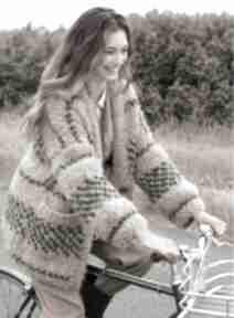 Sweter orlando swetry dziane sweter, kardigan, ciepły, puszysty