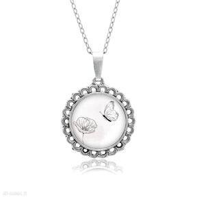 Medalion okrągły mały z grafiką wiosna naszyjniki laluv prezent