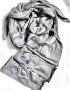 chustki i apaszki! mitenki chusta wełna merino folk zima