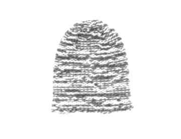 Czapka melanż unisex z wełną zrobiona na drutach czapki