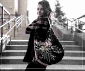 Flowers hobo torba na ramię sabi tatka torebka worek, ramię