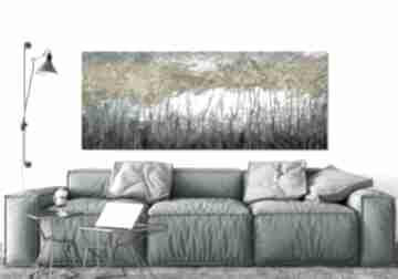 Obraz drukowany na płótnie z drzewami w odcieniach turkusów