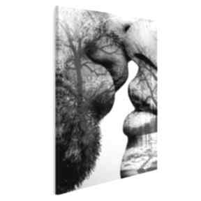 Obraz na płótnie - pocałunek drzewa w pionie 50x70 cm 29505 vaku