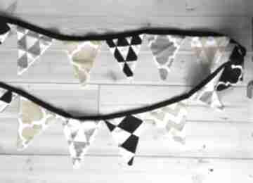 Proporczyki szaro -żółto-czarne pokoik dziecka bywkml