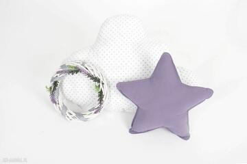 Zestaw 2 poduch fioletowo-biały pokoik dziecka nunli chmurka